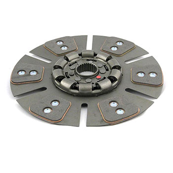 "Oliver 1850 Clutch Disc (reman) (gas from s/n 198,394, 13"", 6 large pad, dampened)"