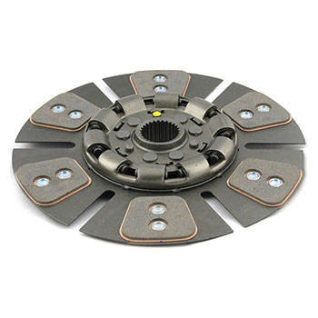 "White 2-105, 2-110 Clutch Disc (reman) (13"", 6 large pad, dampened)"