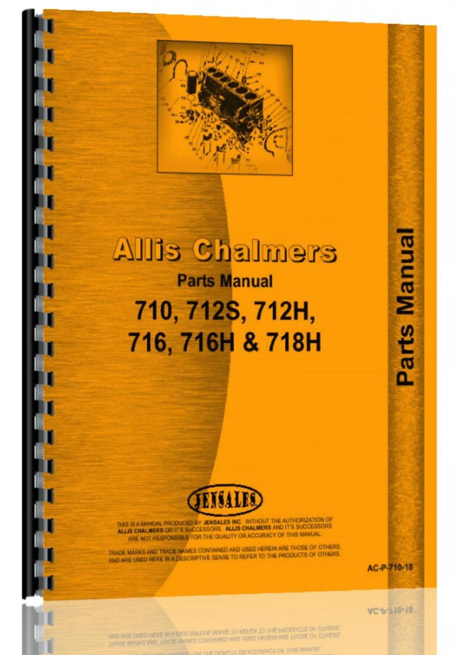 Allis Chalmers 712s Lawn  U0026 Garden Tractor Parts Manual