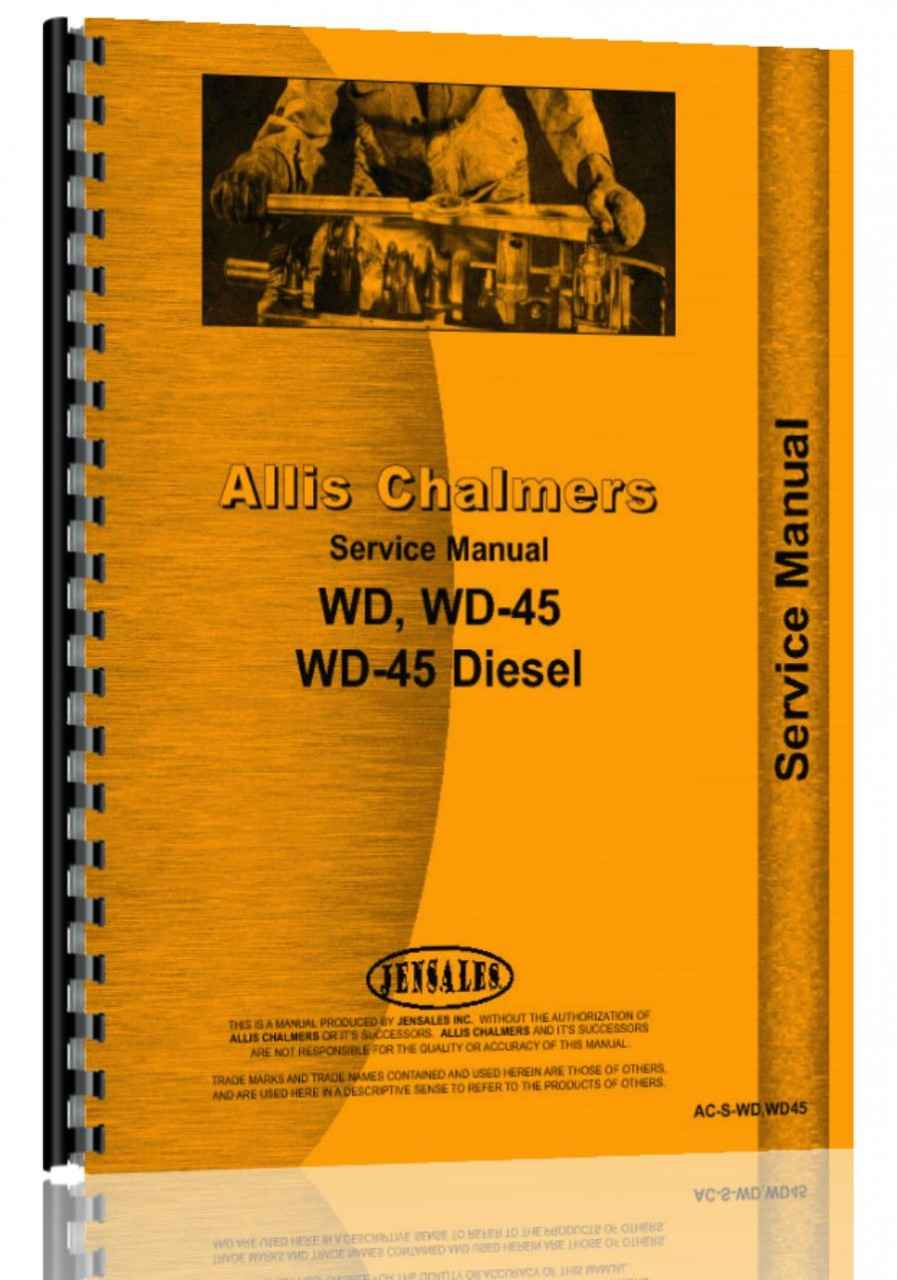 Allis Chalmers WD Tractor Service Manual (HTAC-SWDWD45)