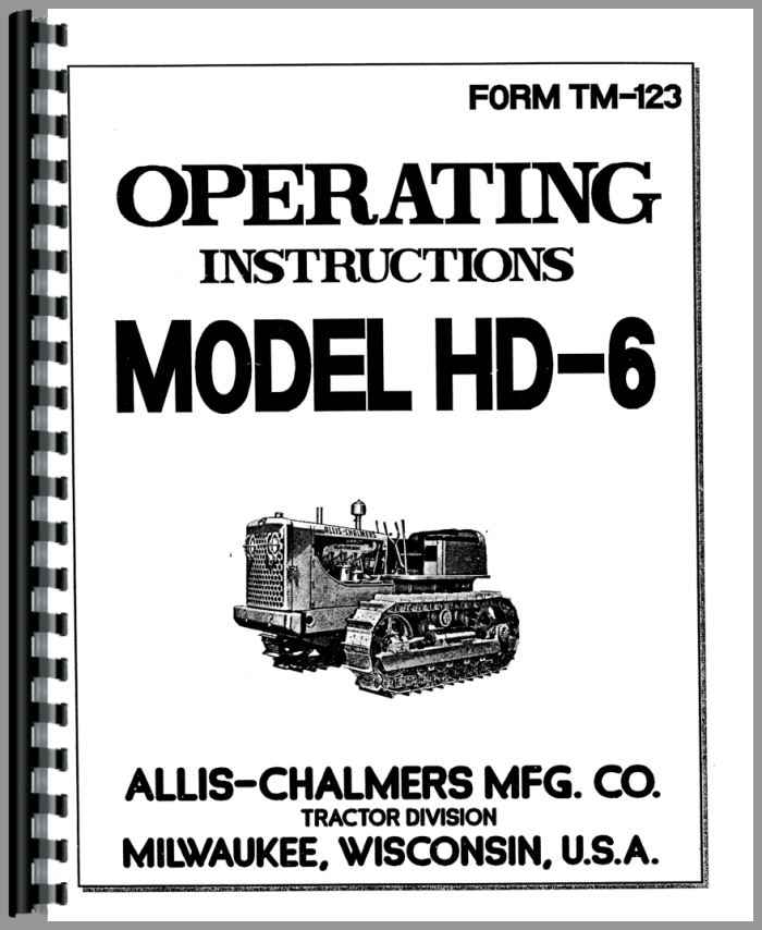 Allis chalmers hd6 parts Manual