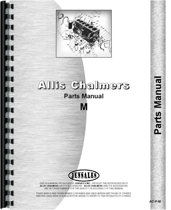 allis chalmers model m crawler parts