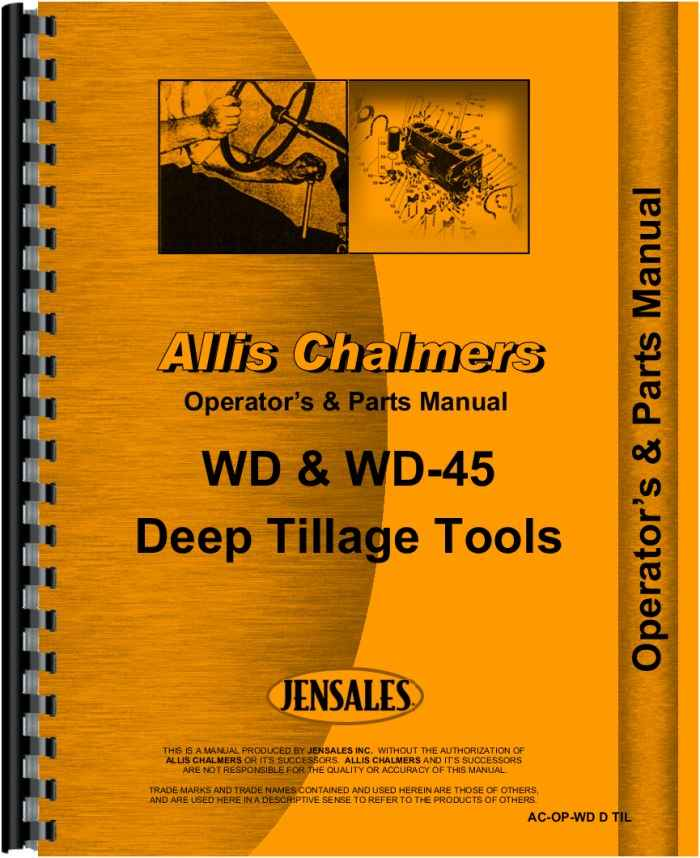 Allis Chalmers WD45 Tractor Operators & Parts Manual