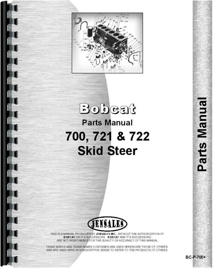 Bobcat 700 Skid Steer Loader Parts Manual (HTBC-P700)