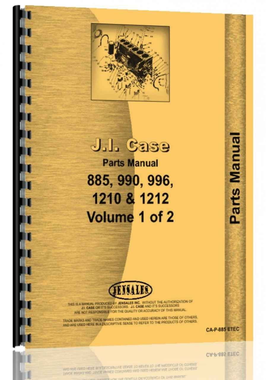 Case 885 Tractor Parts Manual (HTCA-P885ETEC)