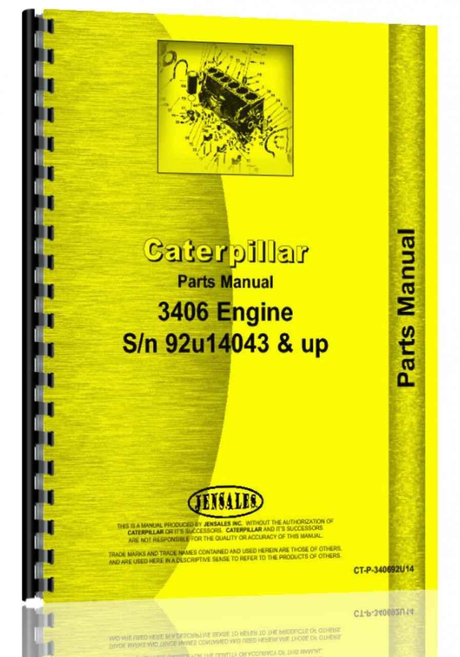 Caterpillar 3406 Engine Parts Manual (HTCT-P340692U14)