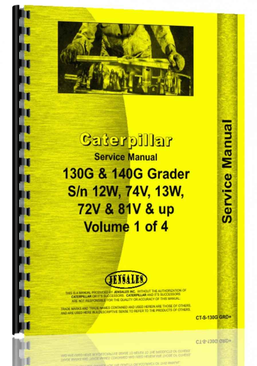 Caterpillar 130g Grader Service Manual