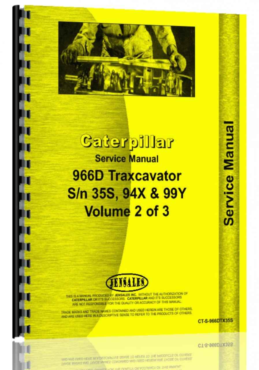Caterpillar 966D Wheel Loader Service Manual (HTCT-S966DTX35S)