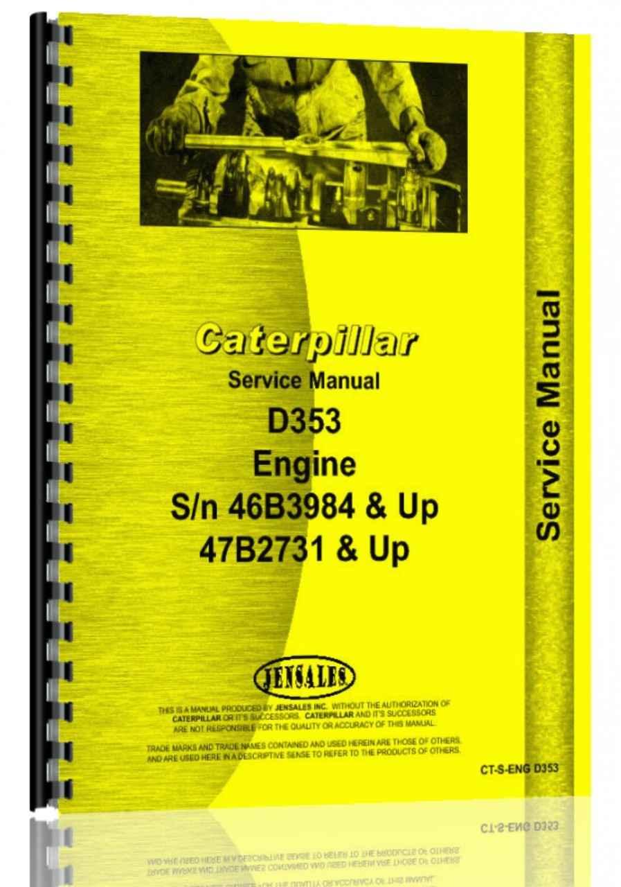 Caterpillar D353 Engine Service Manual (HTCT-SENGD353)