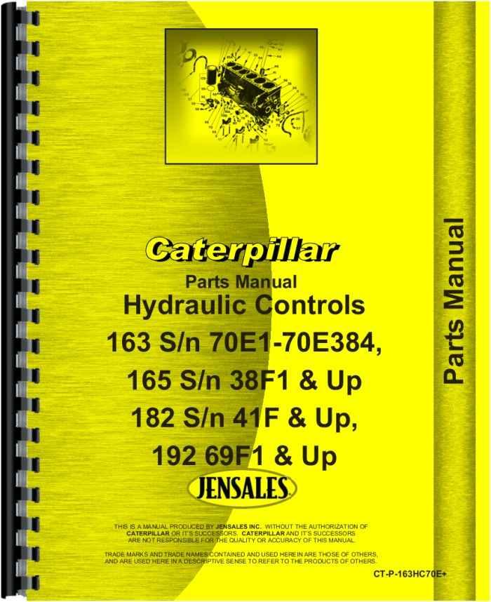 Caterpillar 163 Hydraulic Control Attachment Parts Manual