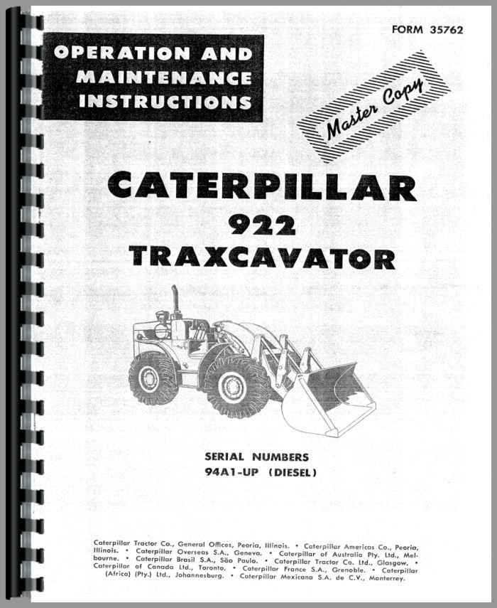Caterpillar gc25 Operators manual