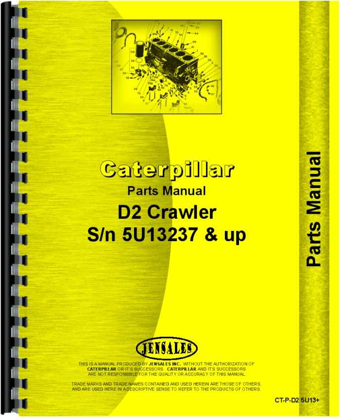 caterpillar d2 crawler parts manual (htct-pd25u13)