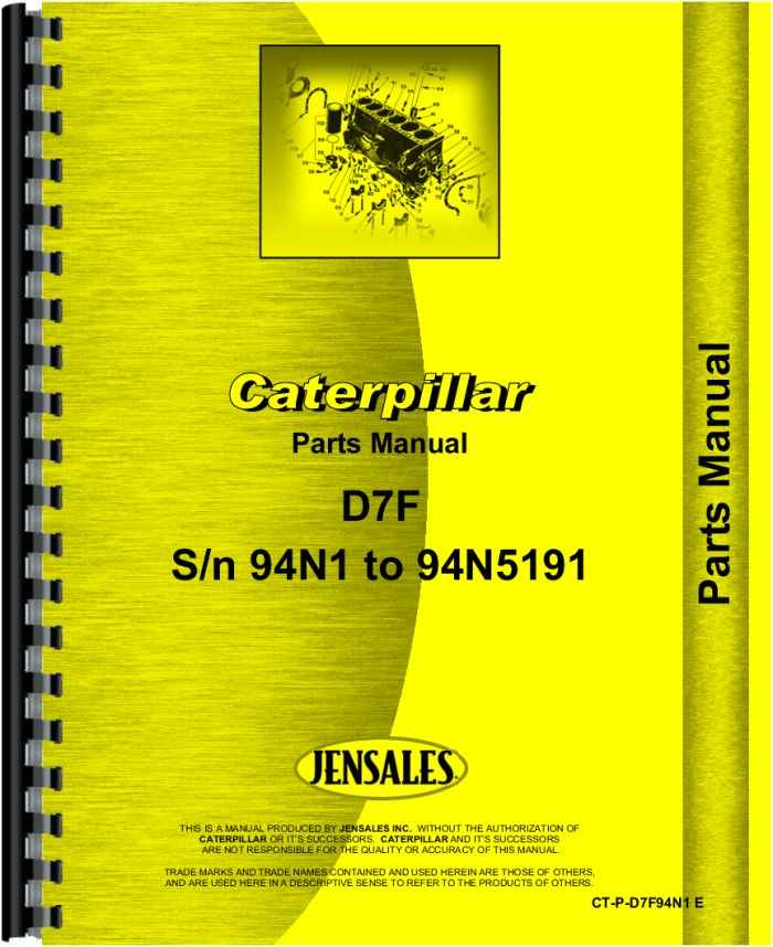 Caterpillar d7f Manual