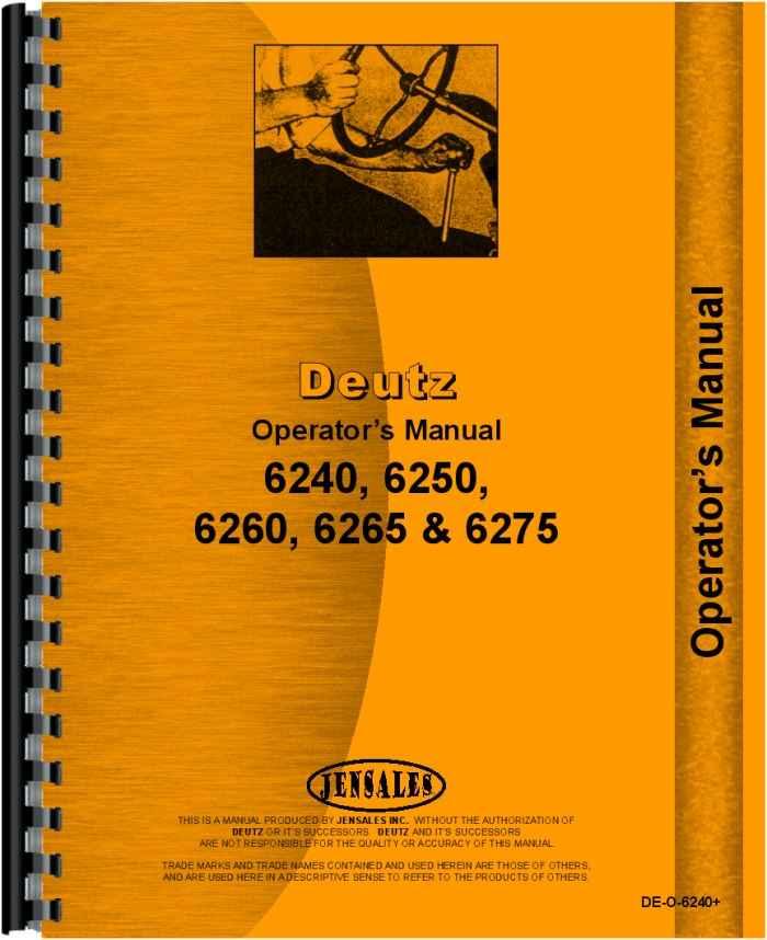 deutz 6265 parts