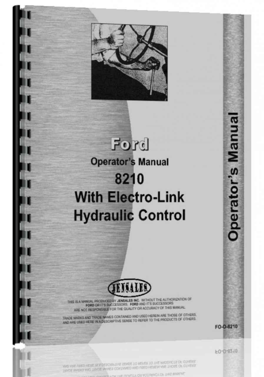 Ford 8210 Tractor Operators Manual (HTFO-O8210)