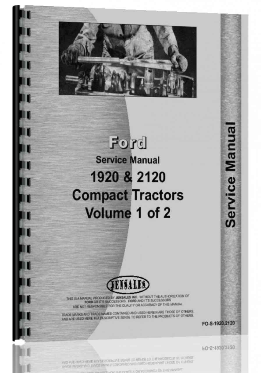 Ford 1920 Tractor Service Manual (HTFO-S19202120)