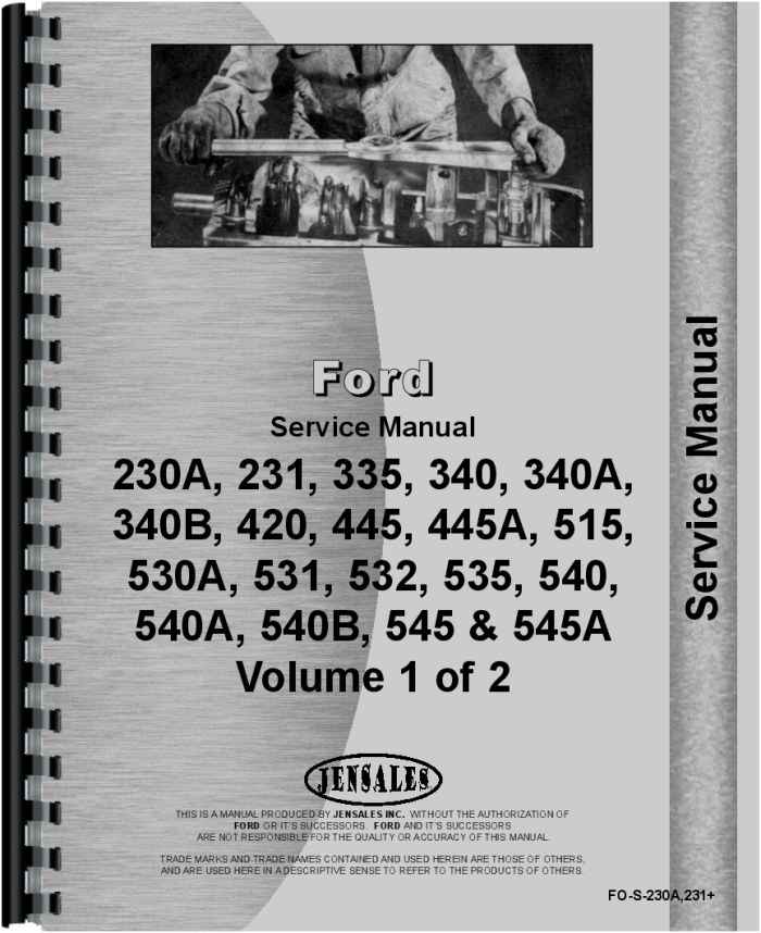 Ford 420 Industrial Tractor Service ManualAgkits
