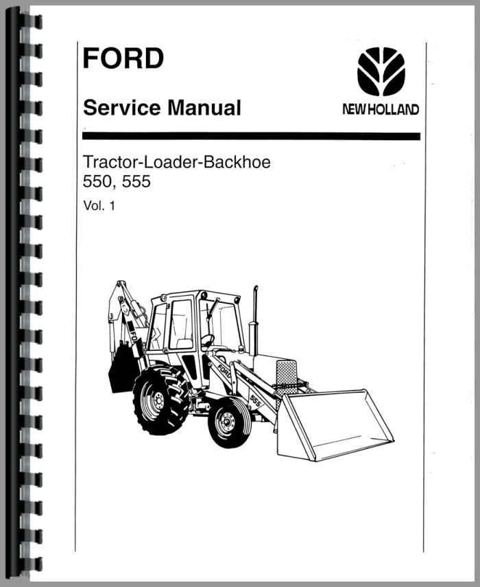 Ford 555 backhoe manual