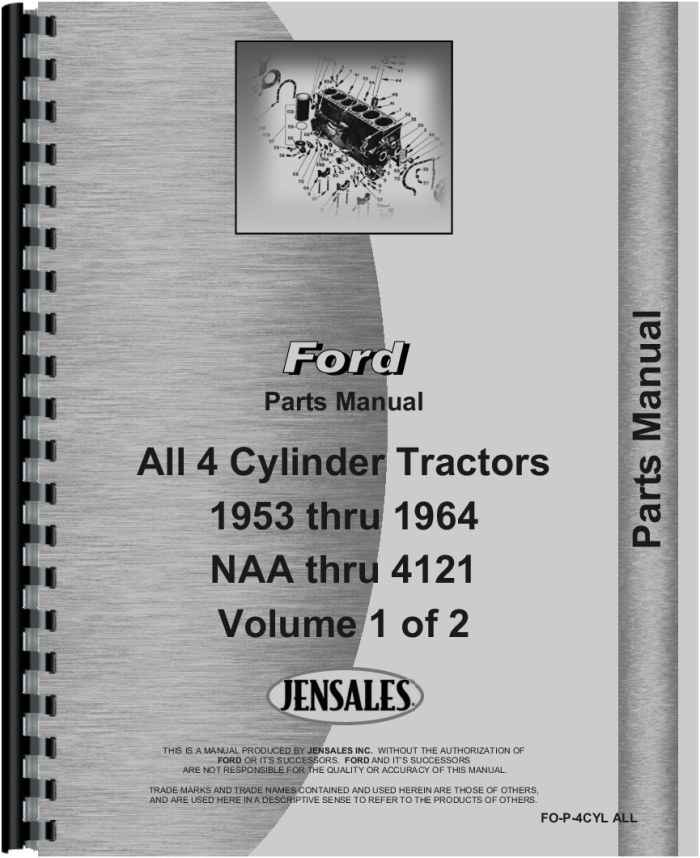 Ford 800 Tractor Parts ManualAgkits