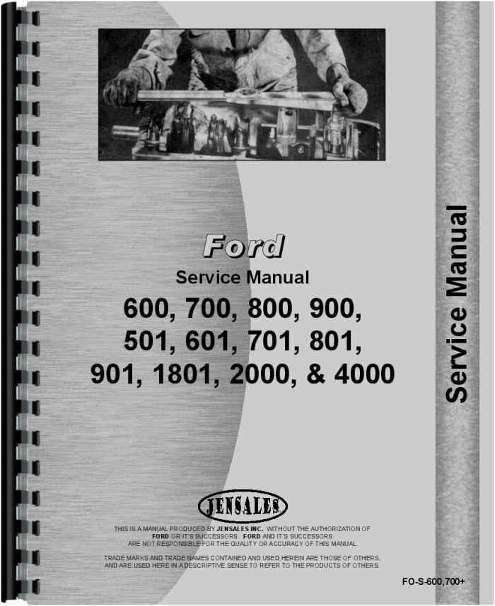 Ford 801 Tractor Service Manual IT Shop Patio, Lawn & Garden ...