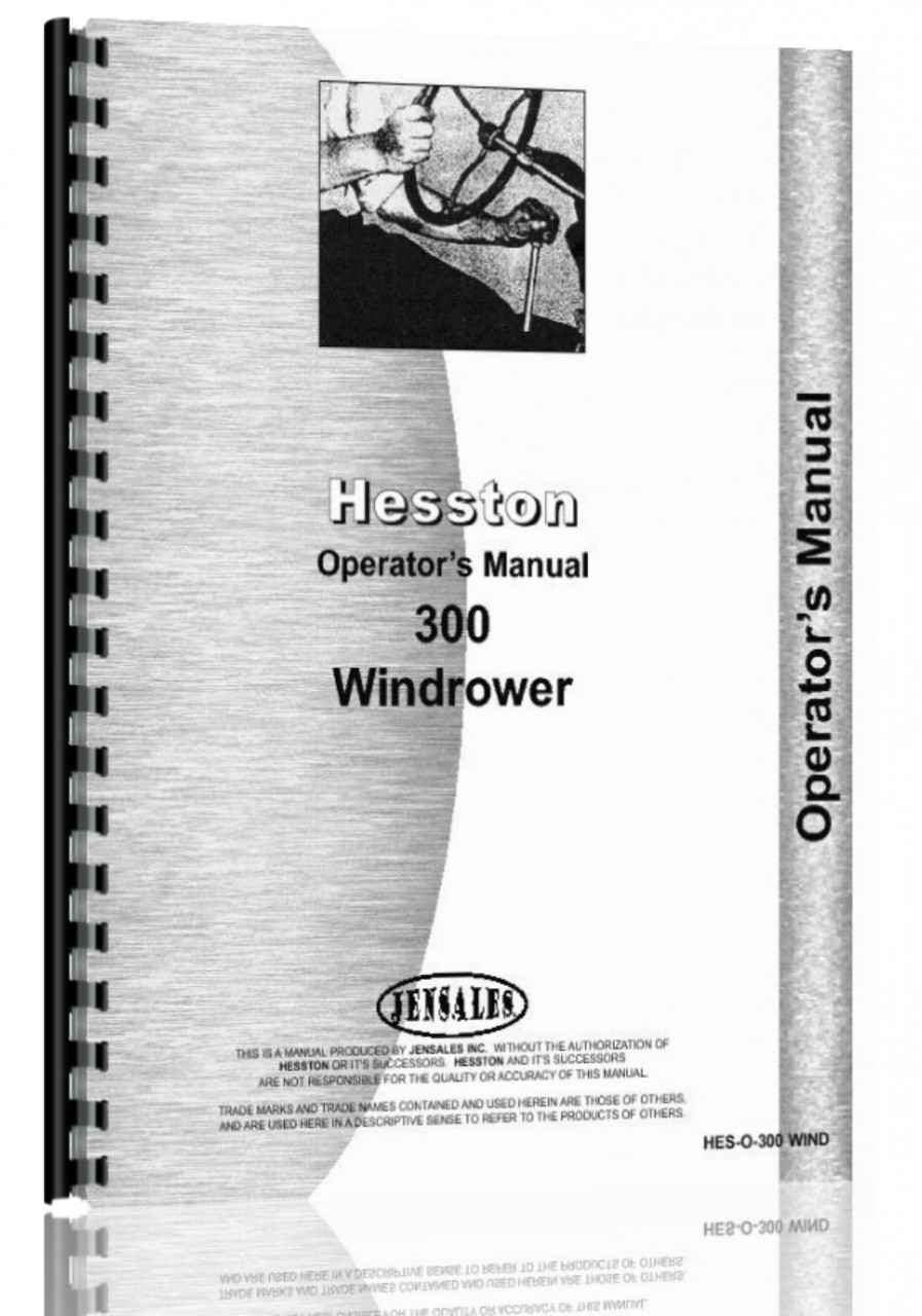 Hesston 300 Windrower Operators Manual (HTHE-SO300WIND)