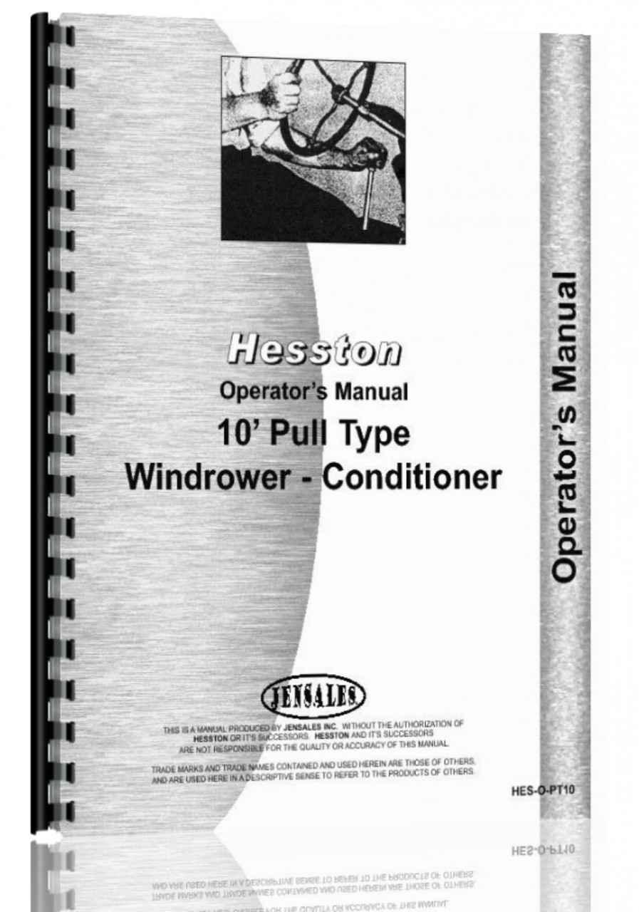 Hesston PT-7, PT-10, PT-12 Mower Conditioner Operators Manual (HTHE-SOPT10)