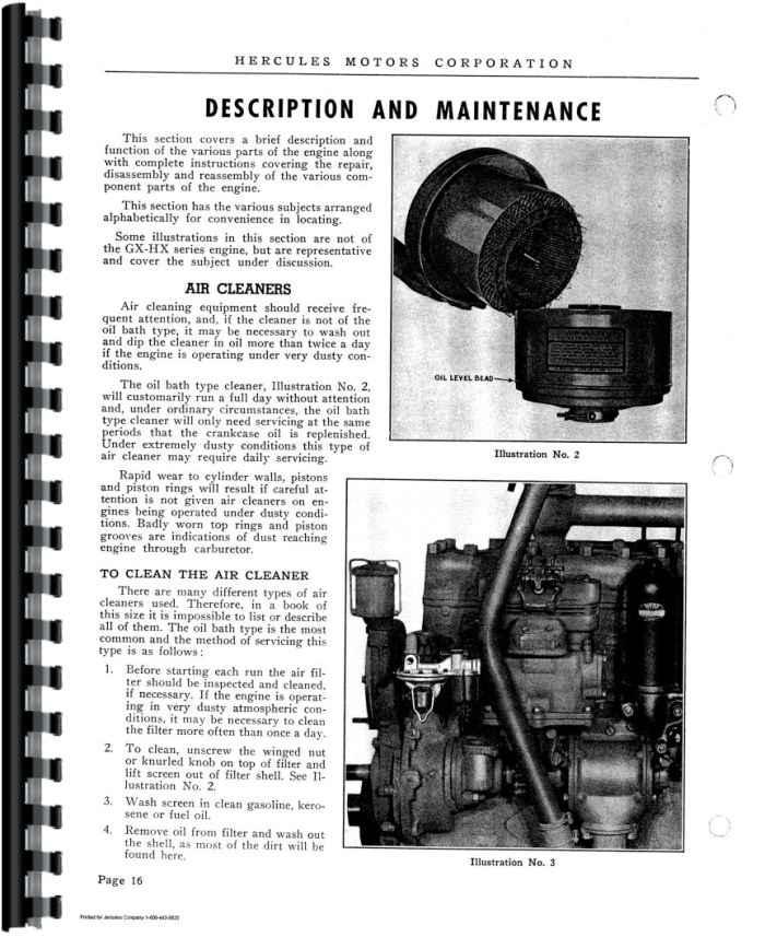 Hercules G2300 Service manual