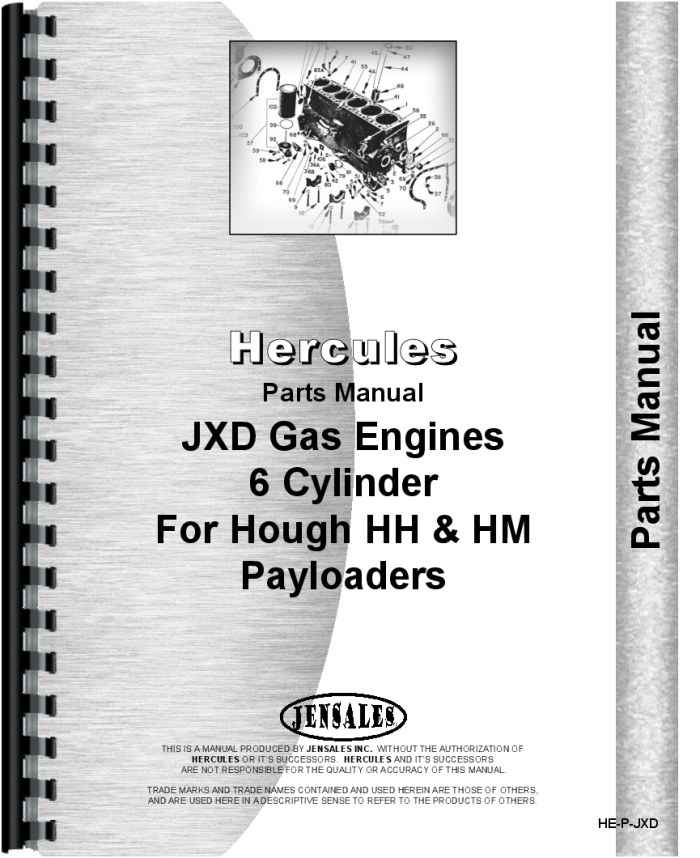 Hercules Engines JXD Engine Parts Manual (HTHE-PJXD)