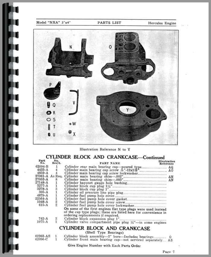 Hercules G3400 Parts manual