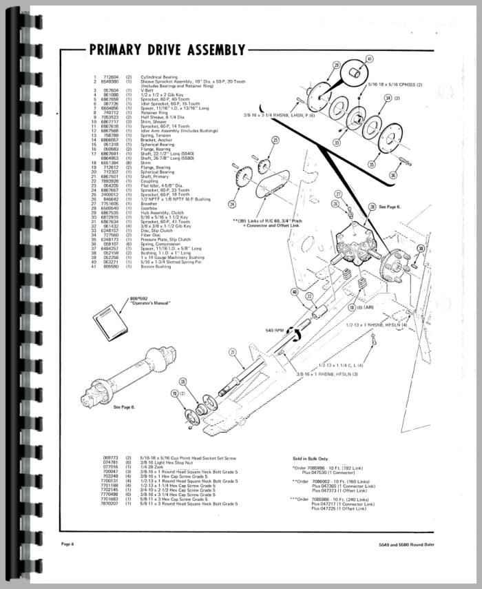 Hesston 5545 Round Baler manual