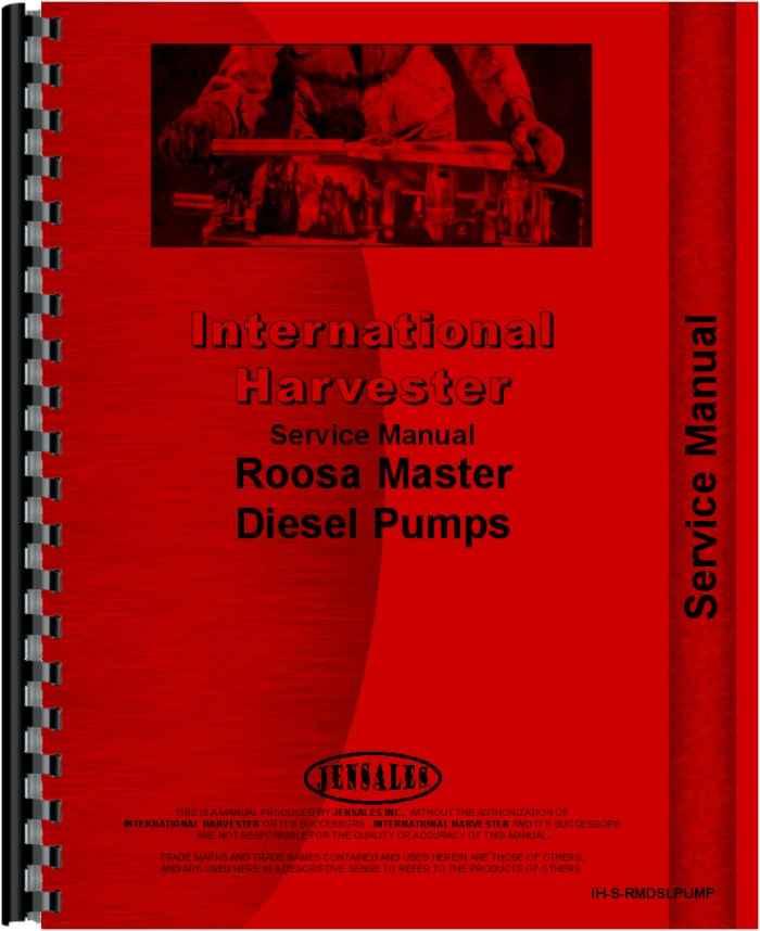 Hough H-70 Roosa Master Injection Pump Service Manual (HTIH-SRMDSLPUMP)