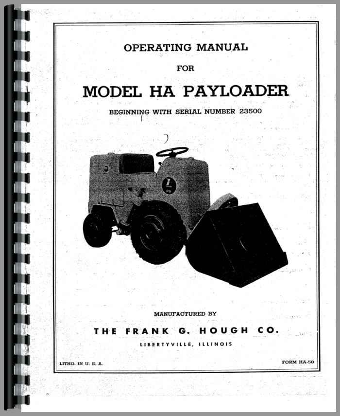 Hough Tractor Manuals