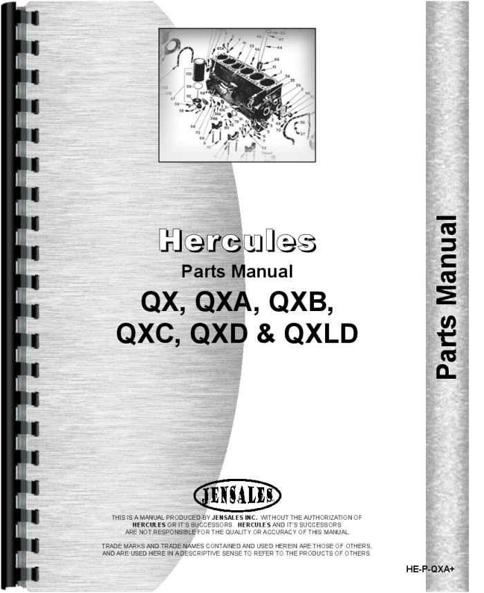 Hough HR Pay Loader Hercules Engine Parts Manual