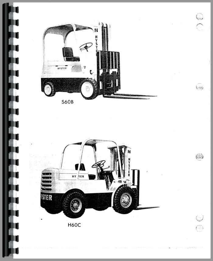 Hyster 120 forklift manual