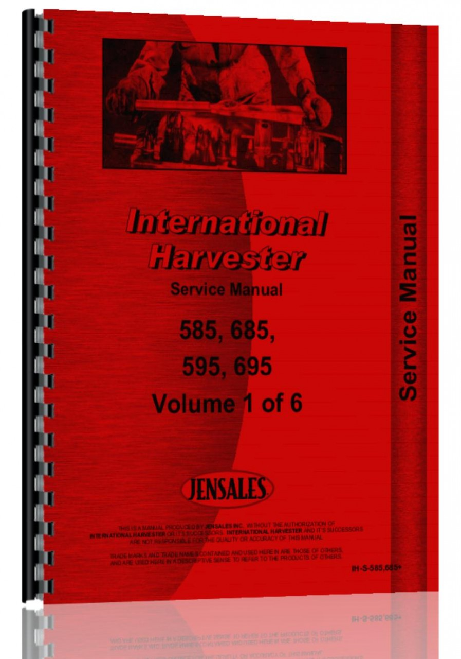 Case-IH 685 Tractor Service Manual (HTIH-S585685)