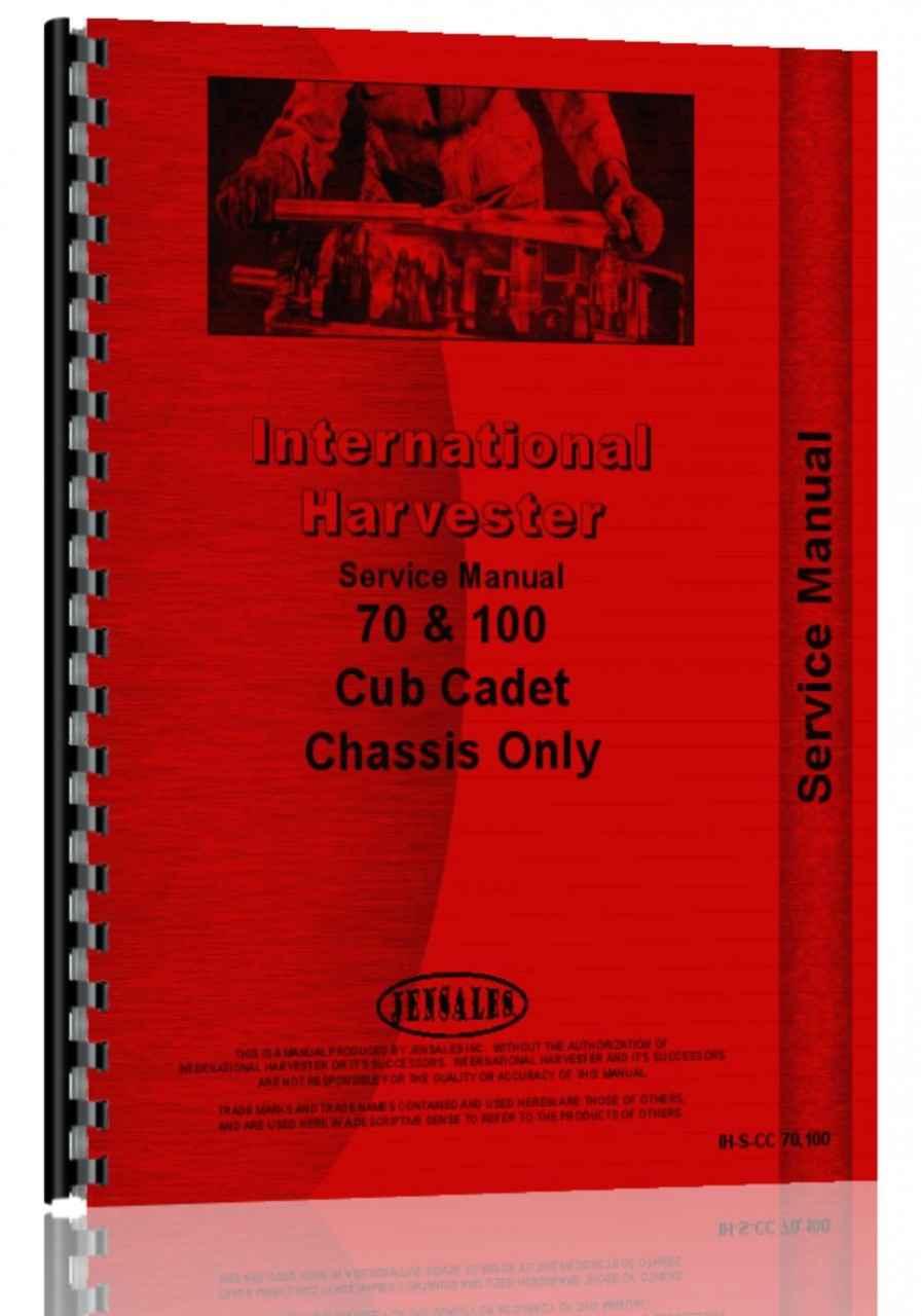 International Harvester Cub Cadet 100 Lawn & Garden Tractor Service Manual  (HTIH-SCC70100)