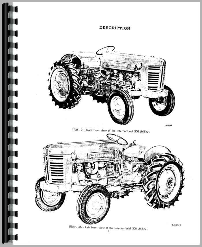 300 Utility tractor Manual hydraulics