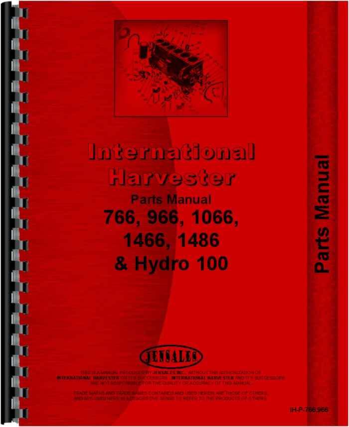 farmall 100 hydro tractor parts manual (htih-p766966)