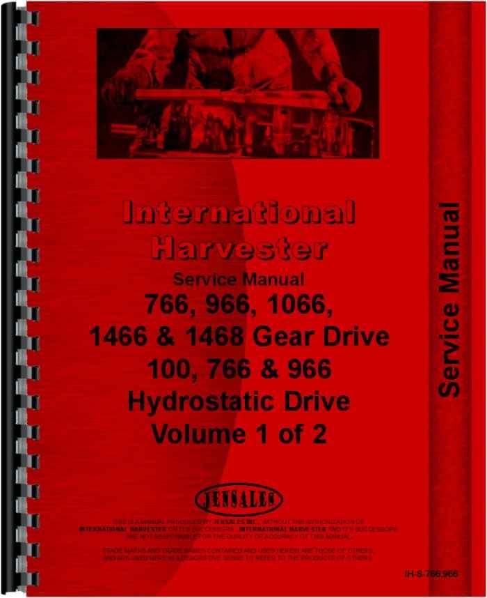 International 1066 Tractor service manual Lx885 Specs on