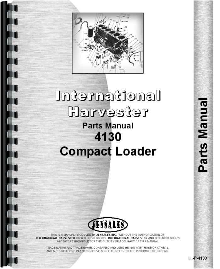 International Harvester 4130 Compact Skid Steer Loader Parts ManualAgkits
