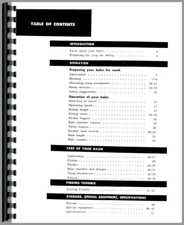 Manual ih 46 Baler