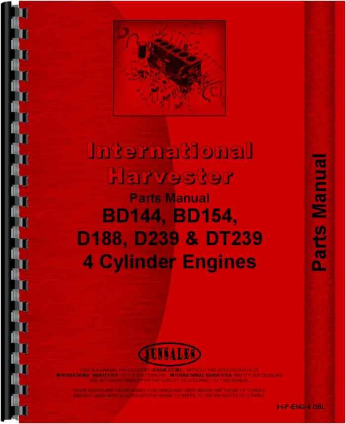 international harvester 544 tractor engine parts manual (htih peng4dsl) 706 Farmall Parts Diagram