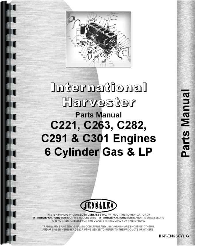 International Harvester 666 Tractor Engine Parts Manual