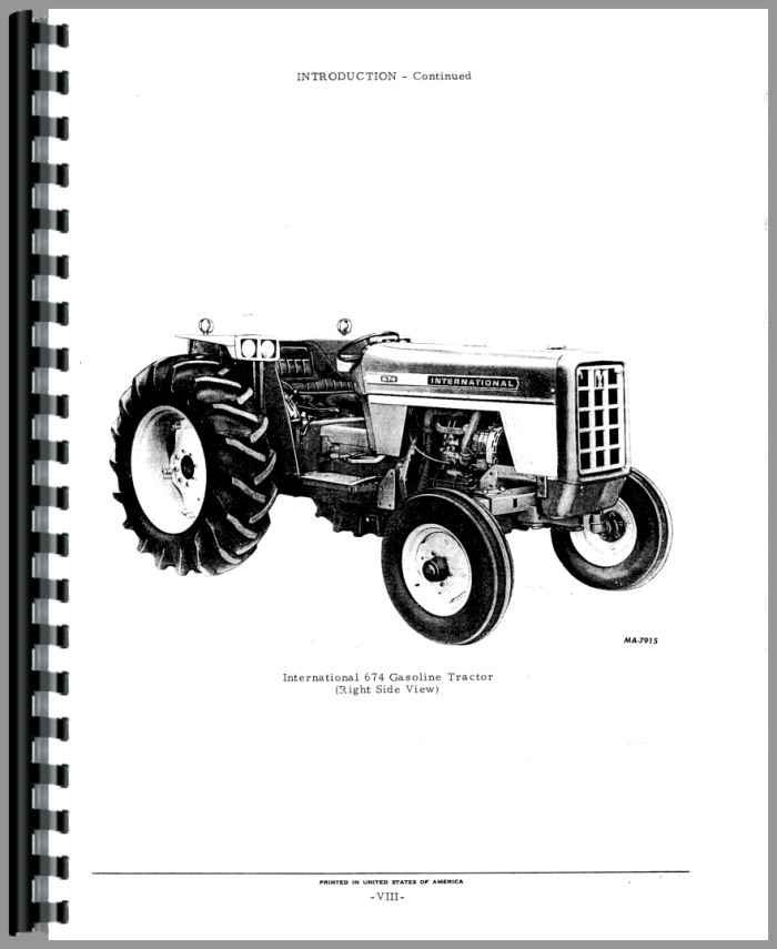 International 674 parts Manual