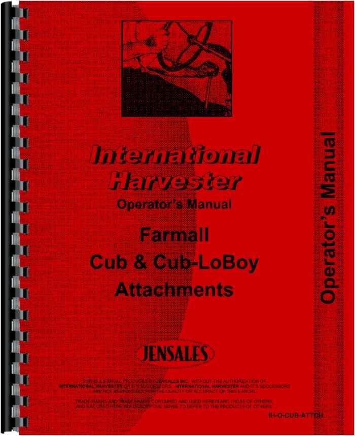 Farmall Cub Tractor Attachments Operators Manual (HTIH-OCUB-ATTCH)