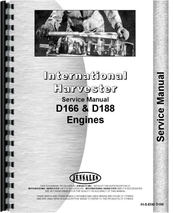 International Harvester D166 Engine Service Manual Agricultural ...