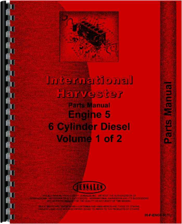 international harvester dt466 engine parts manual (htih-peng56cyl)