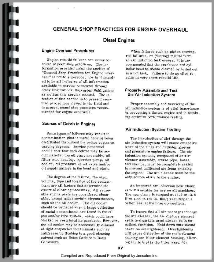 Dt466 diesel Engine service Manual