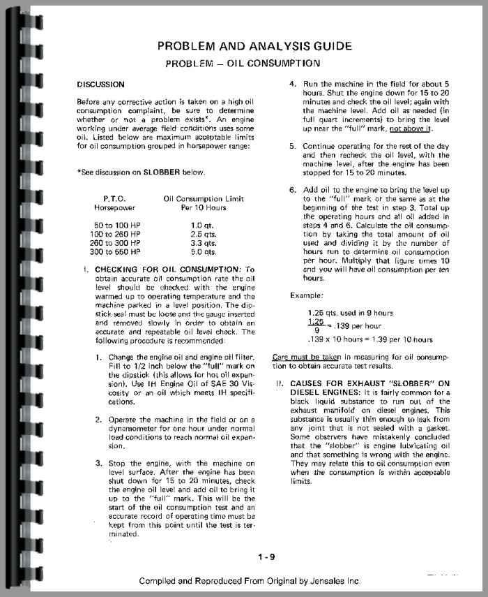 466 International engine Manual