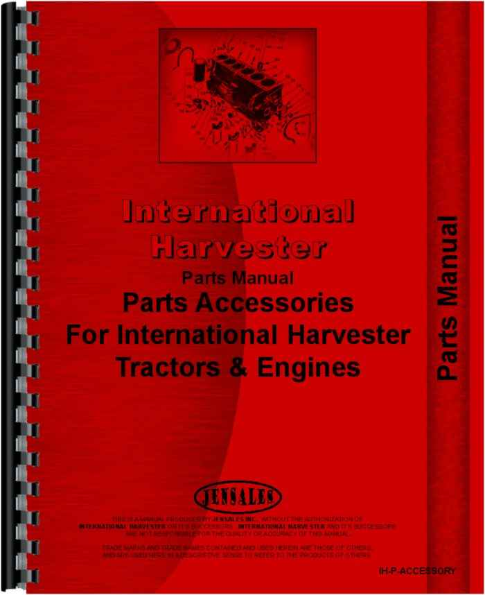 Farmall Super A Tractor Accessories Supplement Parts Manual HTIH PACCESSORY